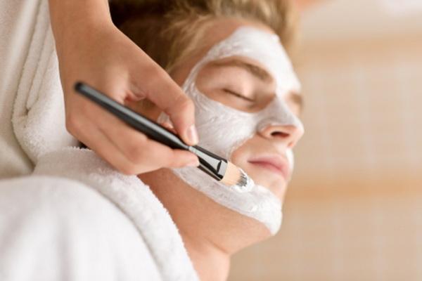 man having facial, men's facial, men's skin care