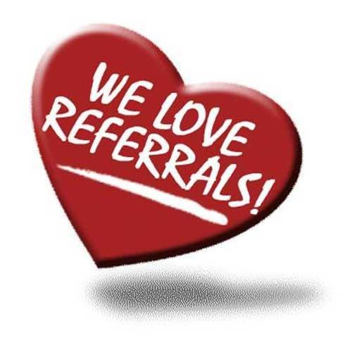 refferals, same money, refer us