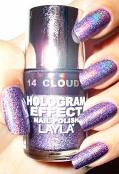 Hologram Effect    is a nail polish formulated to capture light and transform it into amazing, ever-changing liquid swirls and ultra dimensional colours.  Choose from 8 spectacular colours.  Additional $5.00 with any nail service