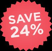 Save 24%