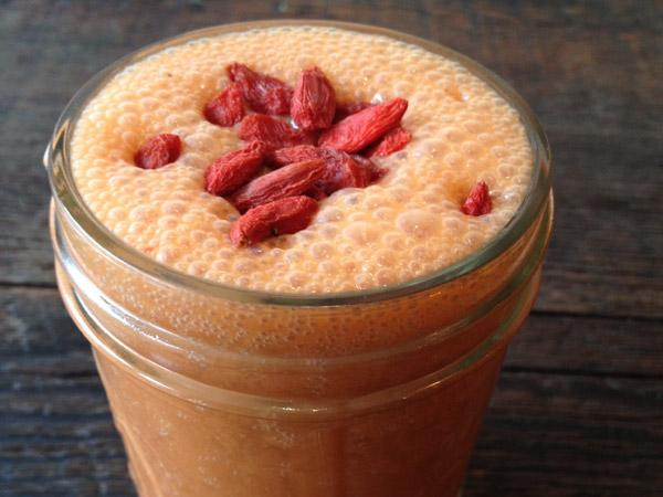 Strawberry Goji Lassi